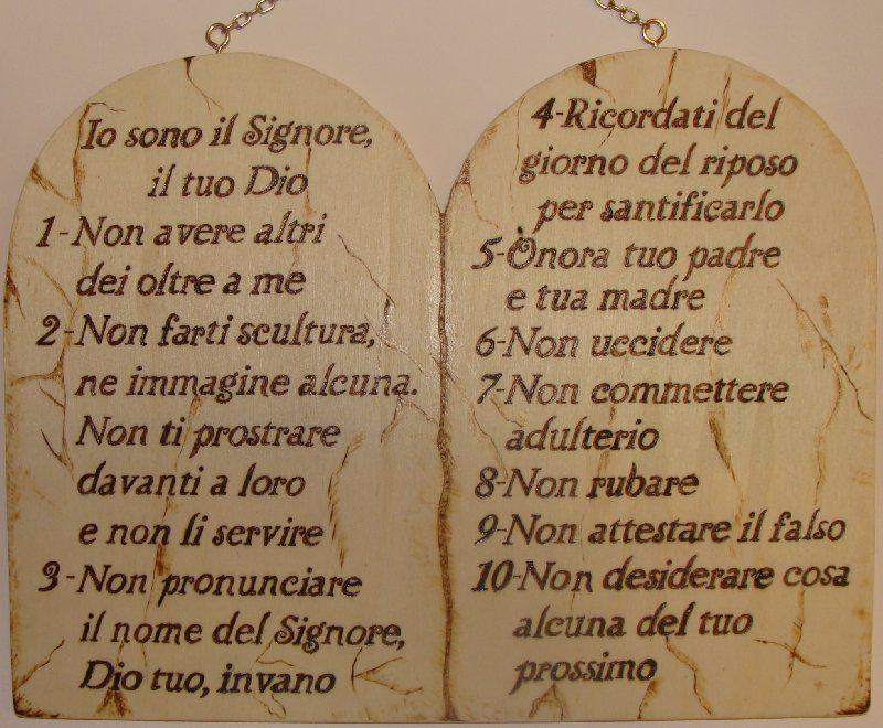 10 comandamenti le regole di dio per vivere cristiani - Tavole dei dieci comandamenti ...