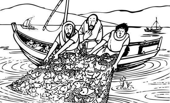 Pesca miracolosa cristiani evangelici - Presidenti giorno colorare le pagine da colorare ...